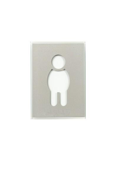 Piktogramm WC Herren, Glas
