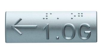 Taktile Handlaufschilder aus Aluminium
