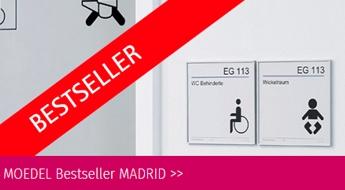 Modellreihe MADRID für Leitsysteme für Gebäude