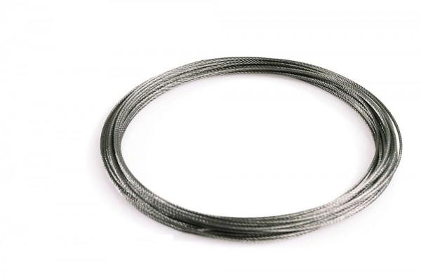 Stahlseil auf Rolle, 10 m, 1000 cm
