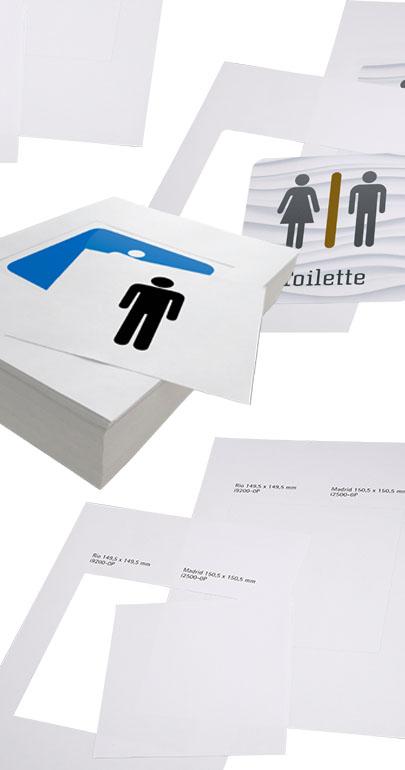 Papiereinlagen für Schilder