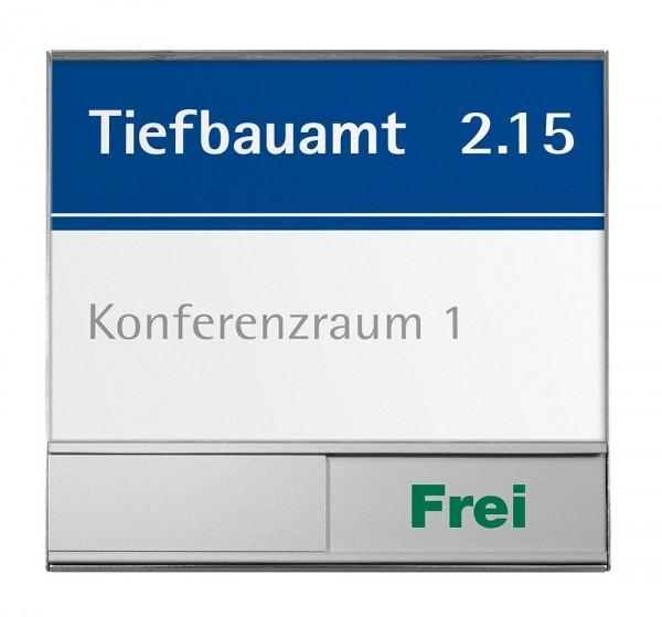 RIO Türschild 150 mit Belegt/Frei Schieber, 14,95 x 14,95 cm