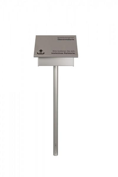 MADRID Silver Line Infostativ Pult mit Bodenplatten