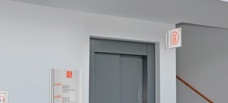Fahnenschilder (Nasenschild)