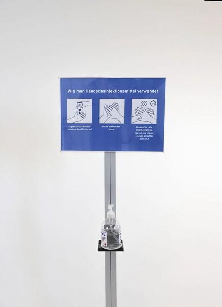 Info Display für Desinfektionsspender A4