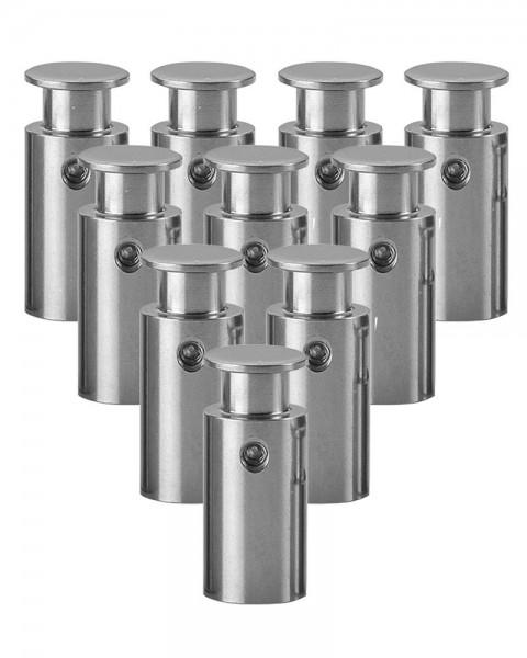 Edelstahl-Abstandhalter zur Wandmontage, Ø 1,4cm, Wandabstand 2,5 cm, 10er VE