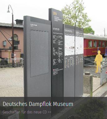 Werbepylone Referenz Deutsches Dampflok Museum