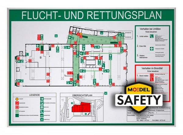 MOEDEL SAFETY MADRID Silver Line Frame ~DIN A4 quer