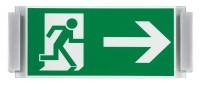 MONACO Fluchtweg-Schild, 17,2 x 32,1 cm