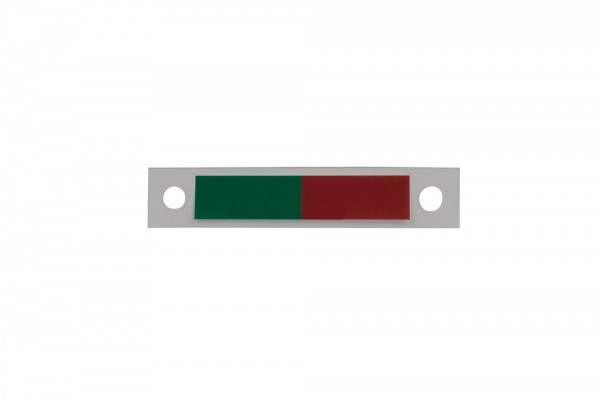 GALERIE Folie rot/grün für Schiebeeinheit aus Aluminium