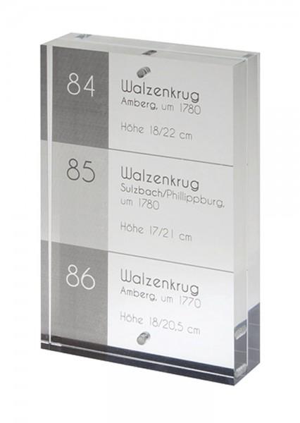 Tischaufsteller Acryl | 65 x 100 mm, 6,5x10 cm